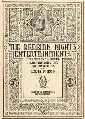 Frontispiece from 'The Arabian Nights Entertainments' illustrated by Louis Rhead