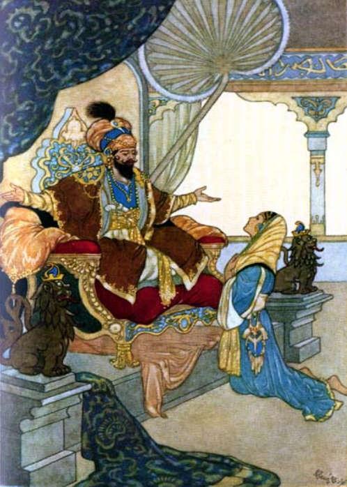 Shariyar and Shahrazad by Rene Bull
