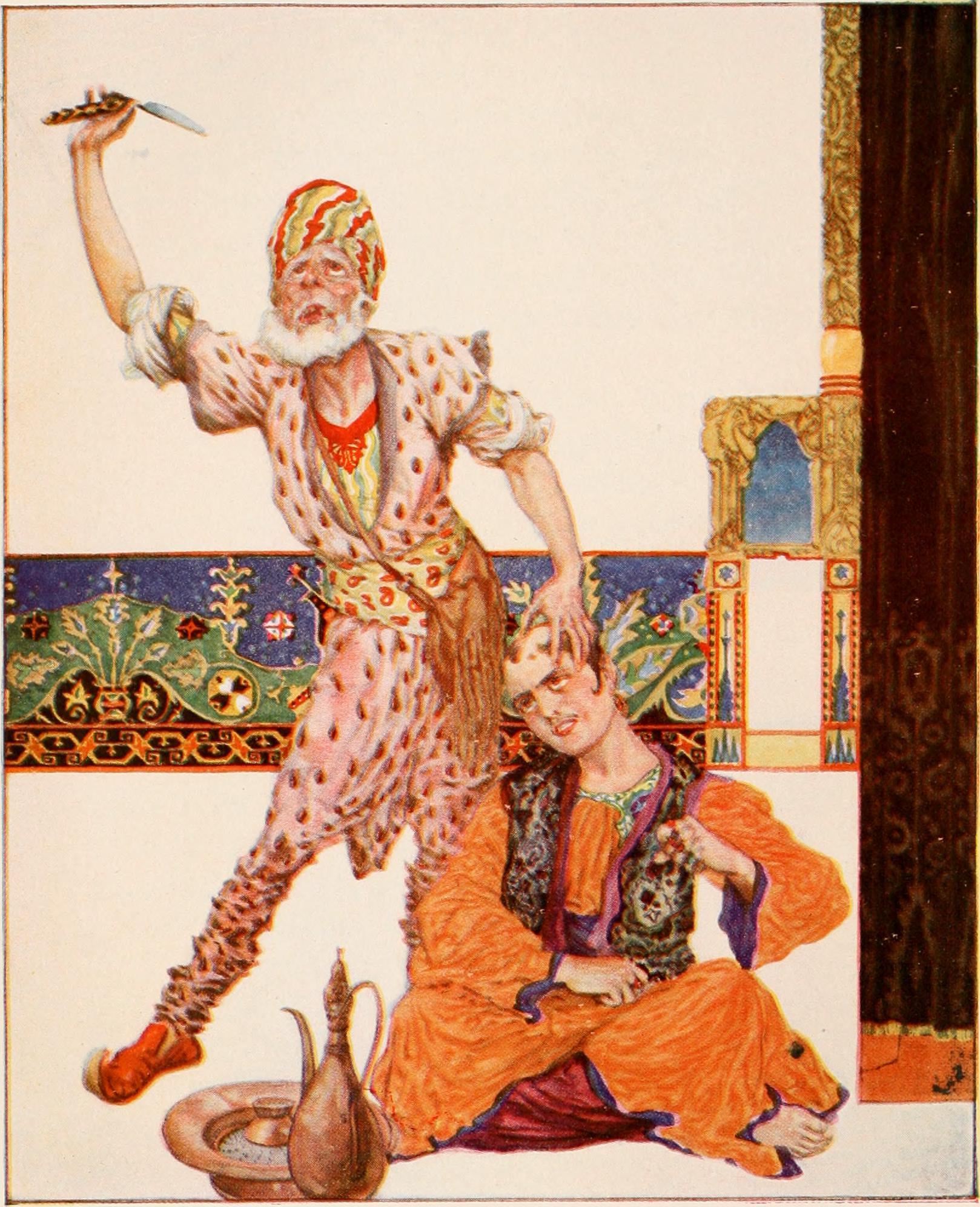 The Story of the Barber, illustration by Frances Jenkins Olcott (1801-1876)