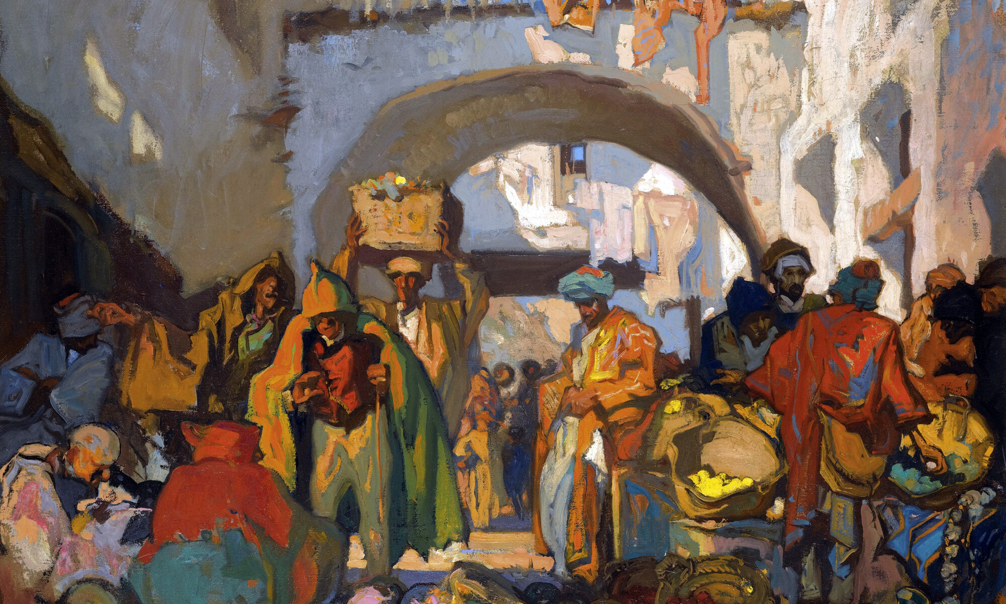 Street Market, Tangiers, by Frank Brangwyn