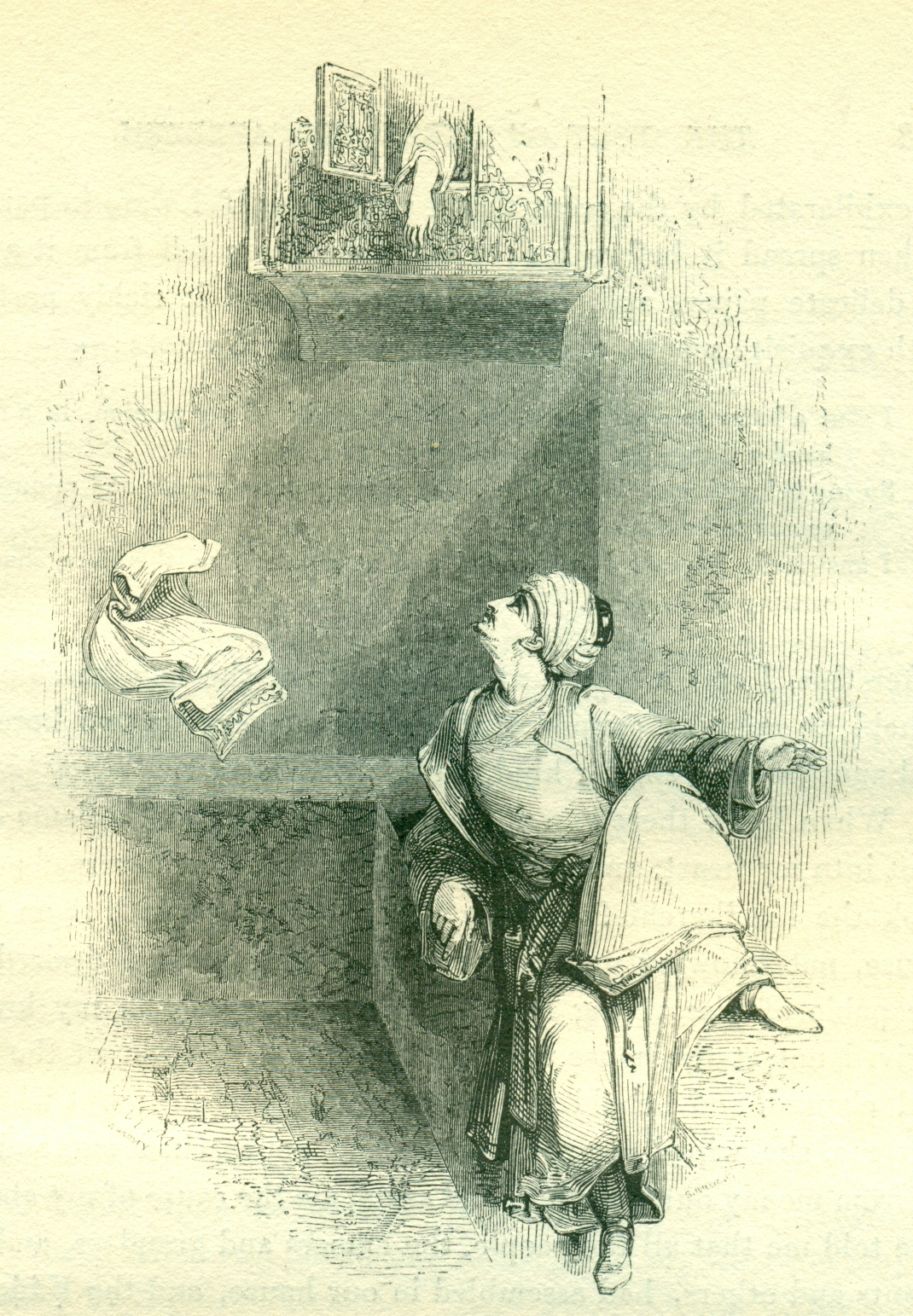 The Daughter of Delilah The Wily, and Aziz - Illustration by William Harvey