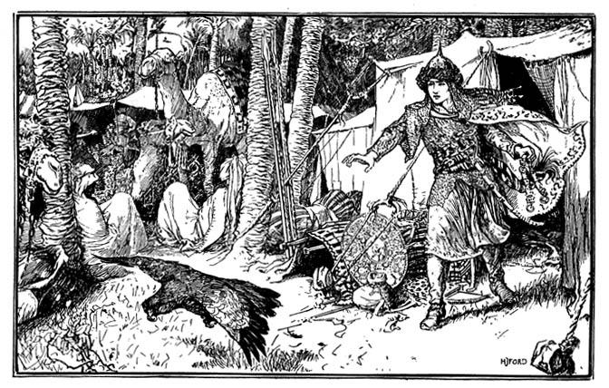 Qamar al-Zaman chases the bird - HJ Ford