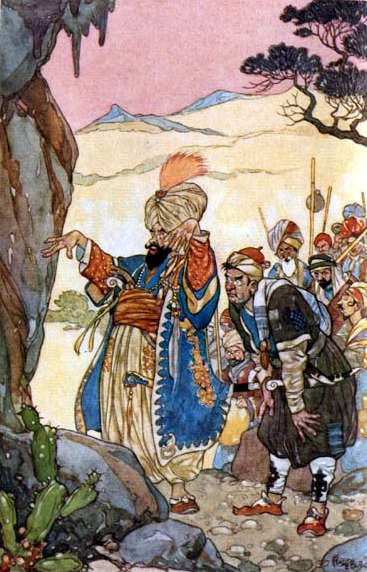 The Leader of the Thieves - Illustration by Rene Bull