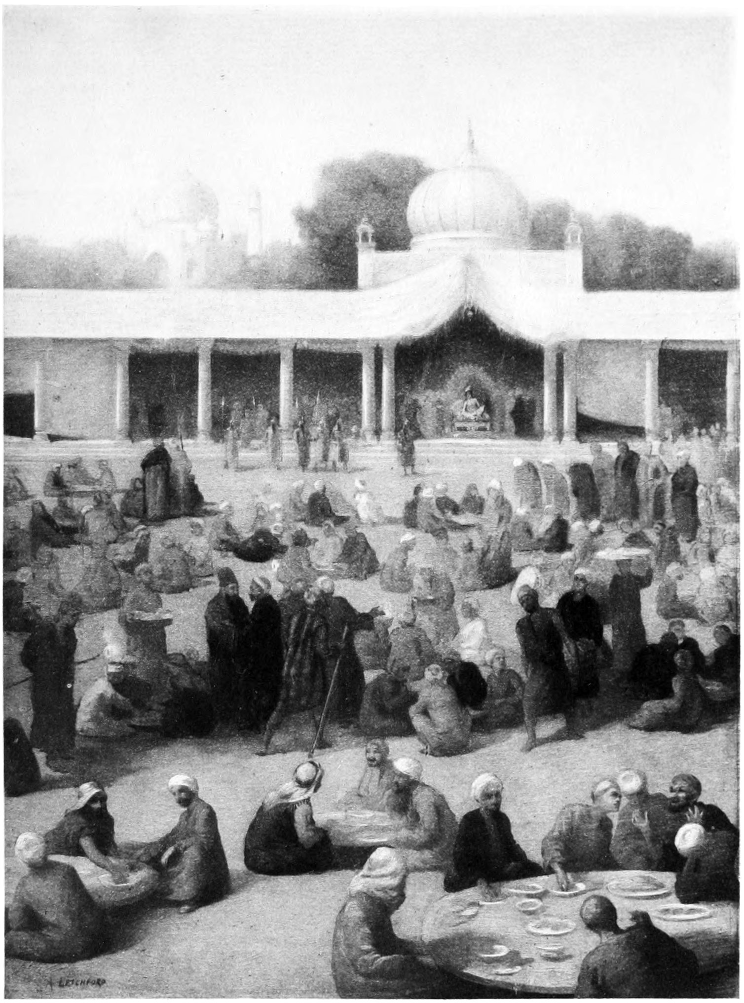Ali Shar and Zumurrud - Illustration by Albert Letchford