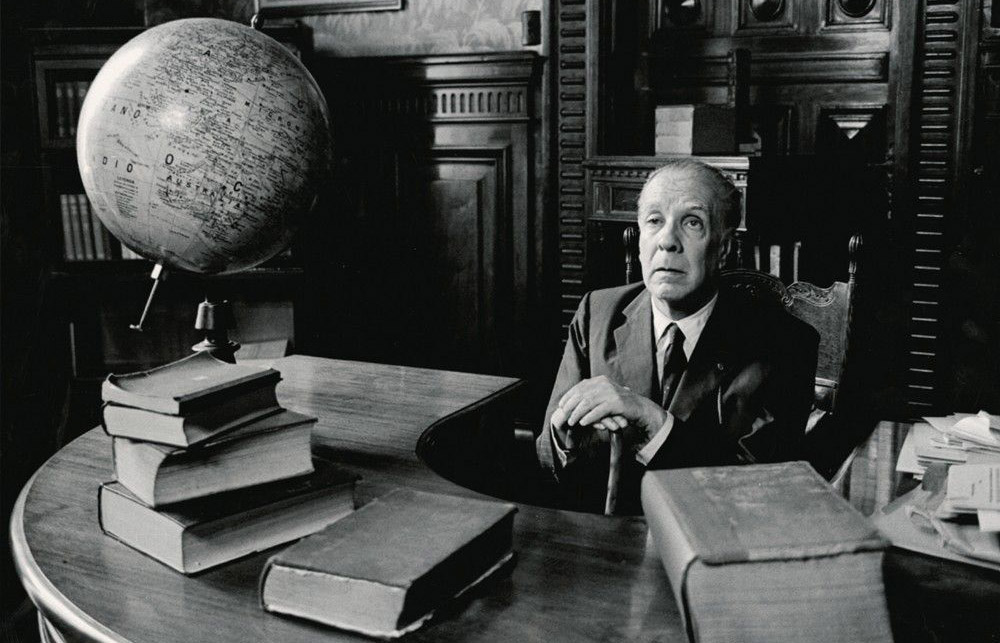 Borges in his study
